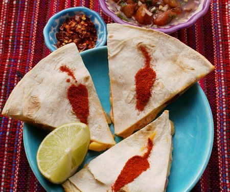 Shrimp-Enchiladas mit Salsa