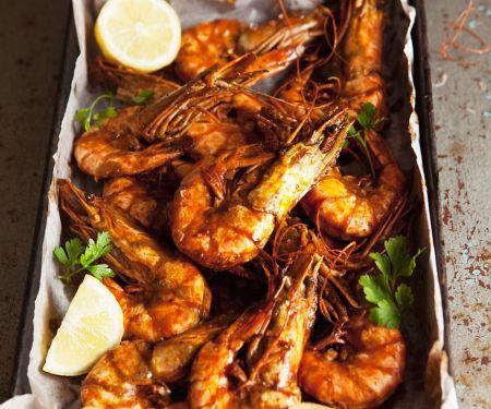 Shrimps aus dem Ofen
