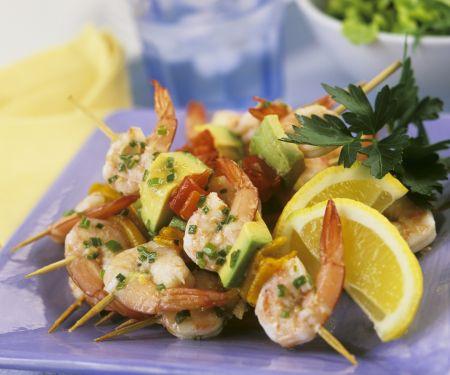 Shrimps-Avocado-Spieße