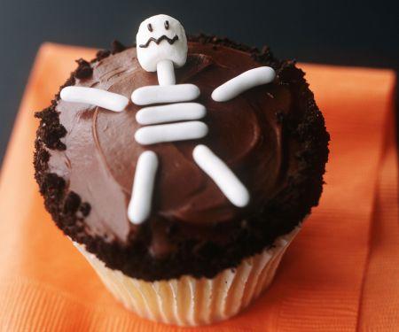 Skelett-Cupcake für Halloween