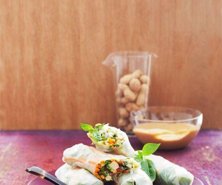 Sommerrollen mit Tofu und Gemüse