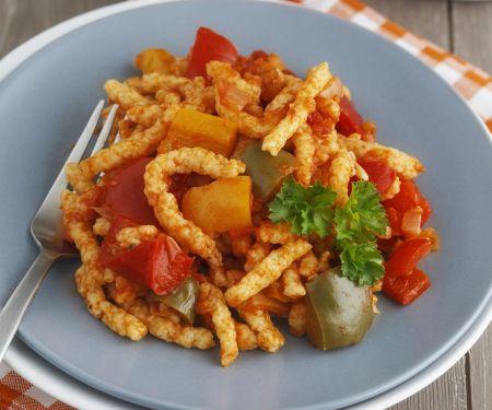 Spätzle mit Paprikagemüse (Letscho)