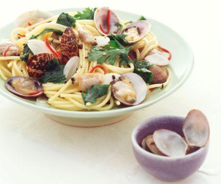 Spaghettini mit Venusmuscheln