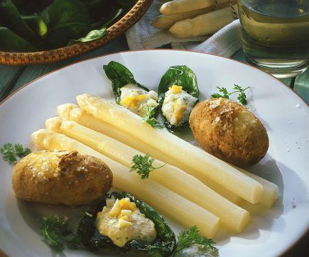 Spargel mit Kartoffeln und Eiersauce