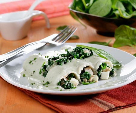 Spinat-Cannelloni mit Käsesauce