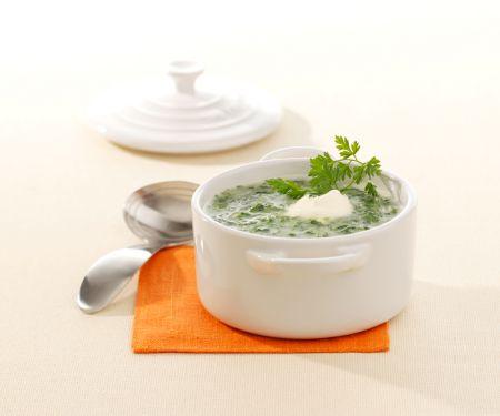 Spinat-Cremesuppe