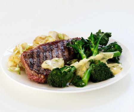 Steak mit Brokkoli
