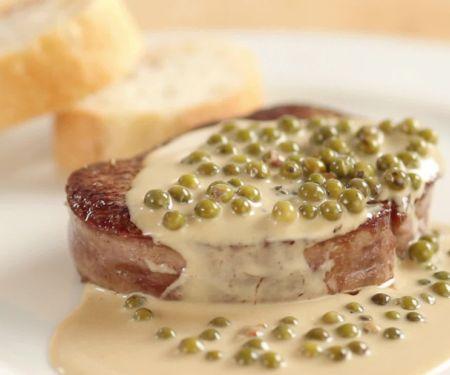 Steak mit Pfeffersauce