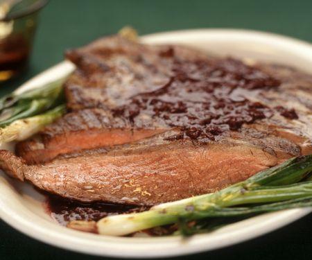 Steak mit Whiskeysauce