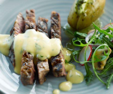 Steak vom Grill mit Bearnaise