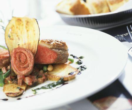 Steakvariationen mit Gemüse