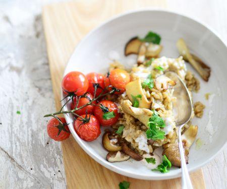 Steinpilz-Risotto mit Kirschtomaten