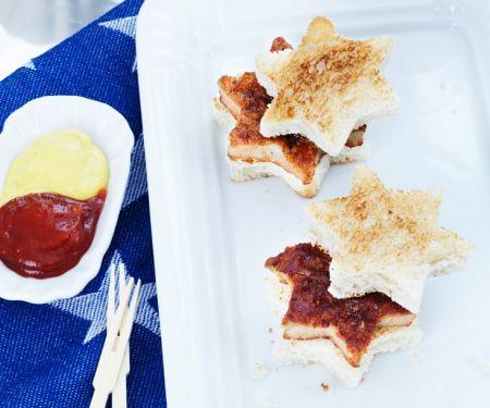 Sternförmige Sandwiches