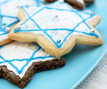 Sternplätzchen zum Hannukah-Fest