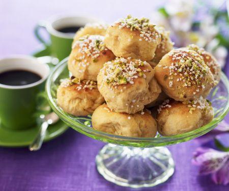 Süße Pistazienbrötchen