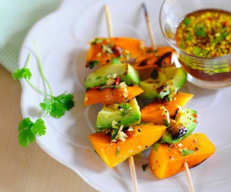 Süßkartoffel-Avocado-Spieße