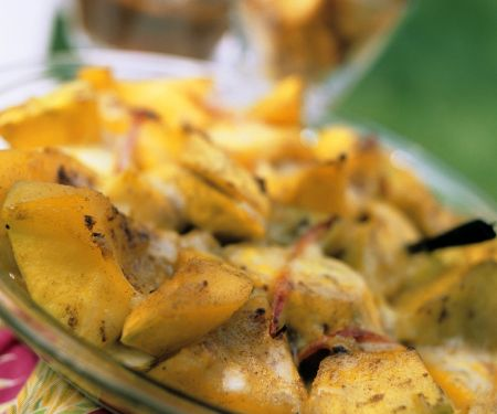 Süßkartoffel-Bananengratin