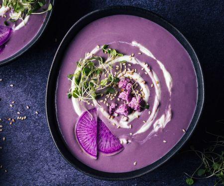 Süßkartoffel-Blumenkohl-Suppe mit Za'atar