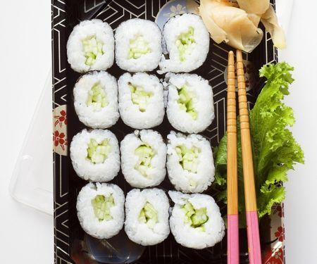 Sushi mit Gurke