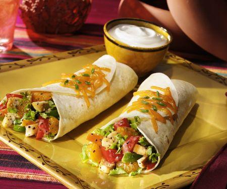 Tacos mit Hähnchenfüllung