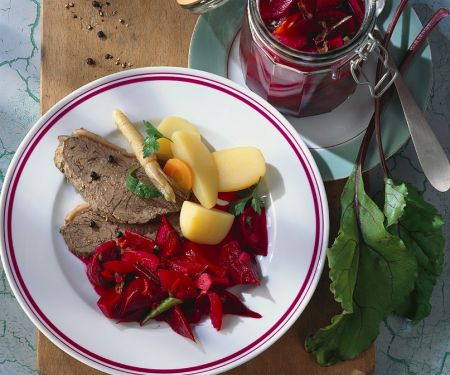 Tafelspitz mit Gemüse