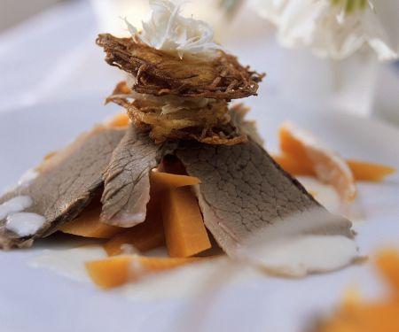Tafelspitz mit Kartoffelpuffer