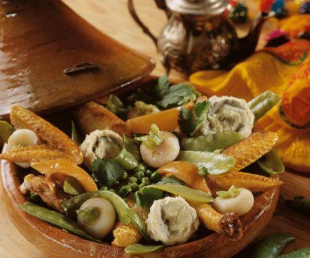 Tajine mit Hähnchen und Gemüse