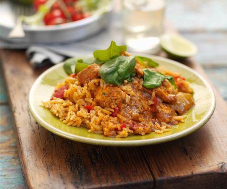 Tandoori Chicken mit Reis