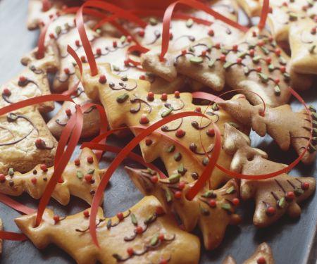 Tannenbaumplätzchen für den Weihnachtsbaum