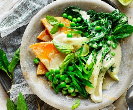 Thailändische Suppe mit Süßkartoffel