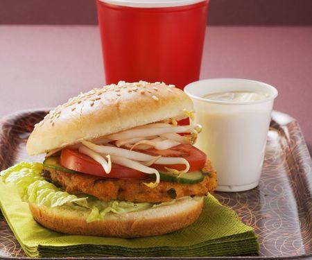Tofu-Burger mit Sojasprossen
