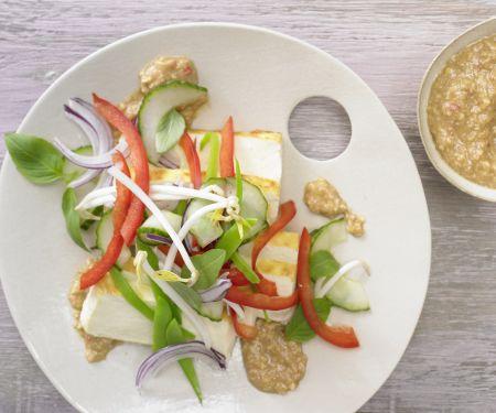 Tofu-Gurken-Salat