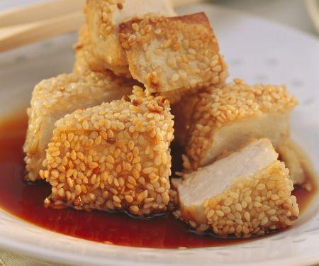 Tofu im Sesammantel