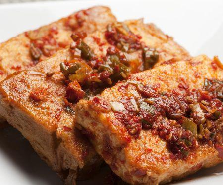 Tofu mit Tomaten