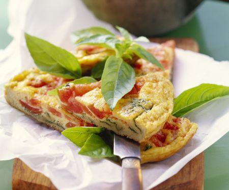 Tomaten-Basilikum-Omelett