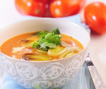 Tomaten-Lauchsuppe