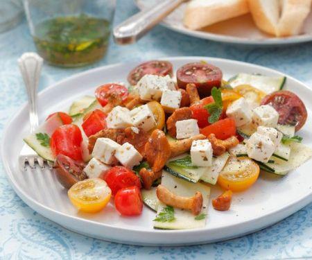 Tomaten-Pfifferlingssalat