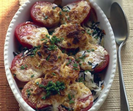 Tomaten-Reis-Auflauf