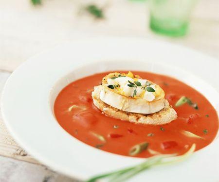 Tomatensuppe mit Käse-Toast