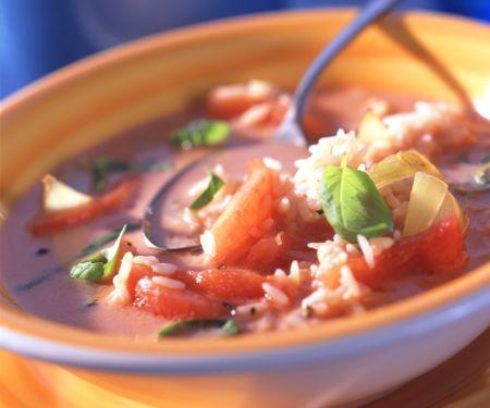 Tomatensuppe mit Reis