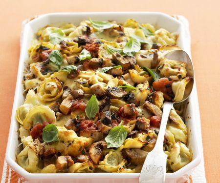 Tortellini-Pilz-Gratin
