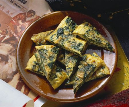 Tortilla mit Spinat