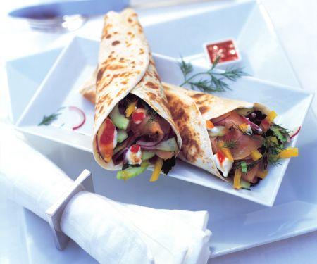Tortillas mit Lachs