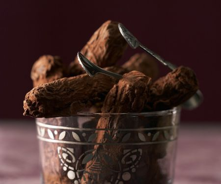 Trüffelstangen mit Kakao