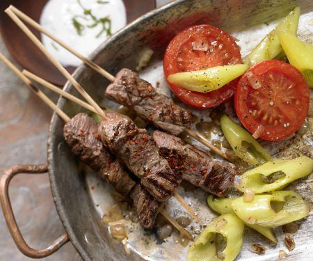 Türkische Rindfleischspieße