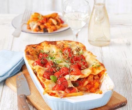 Vegane Lasagne mit Cherrytomaten