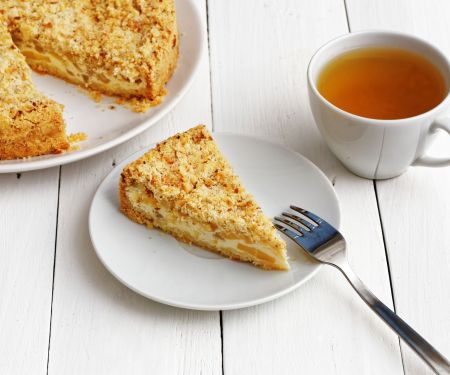 Veganer Streuselkuchen mit Apfel-Quark-Füllung