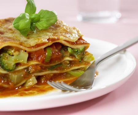 Vegetarische Lasagne mit Brokkoli