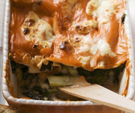 Vegetarische Lasagne mit Mangold