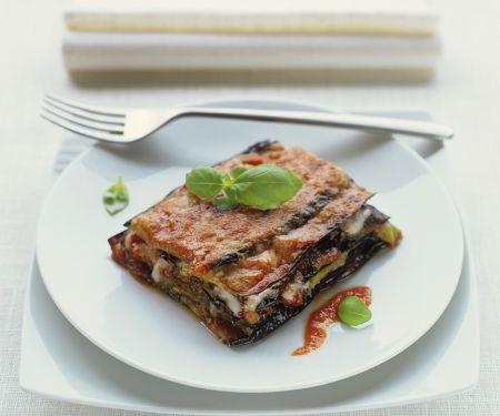 Vegetarische Lasagne mit Aubergine